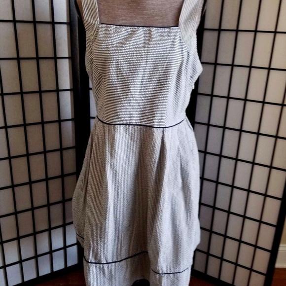 02a7e4bdaeb Lands  End Dresses   Skirts - Land End Women s Size 12 Seersucker ...